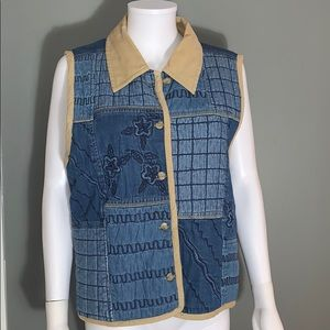 Paul Harris Design Womans Jean Vest SZ.L